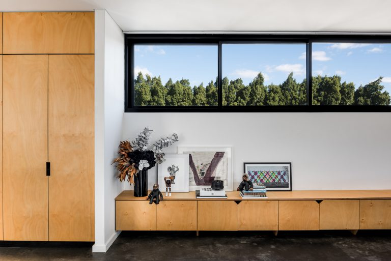 11-Triangle-House-custom-cabinetry-living-landscape-Mount-Lawley-architect-by-Robeson-Architects