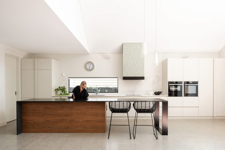 8-person-in-kitchen-Subiaco-architect-Robeson-Architects-Perth