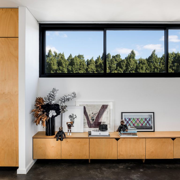 Custom cabinetry picture from Small House Living Australia article featuring Perth residential architect Simone Robeson of Robeson Architects.